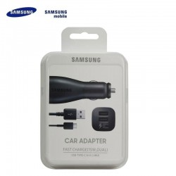 (Samsung Fast Charging Dual Car Charger (Type-C