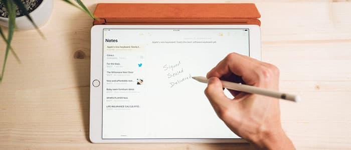استفاده از اپلیکیشن Notes با آیپد و اپل پنسل