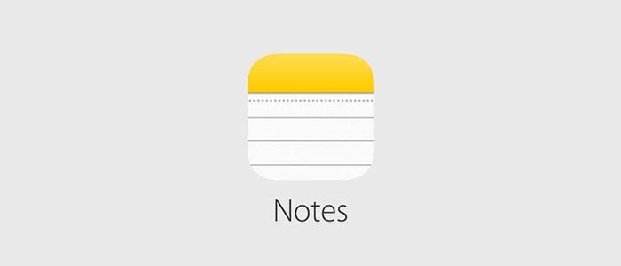 اپلیکیشن Notes در آیفون و آیپد