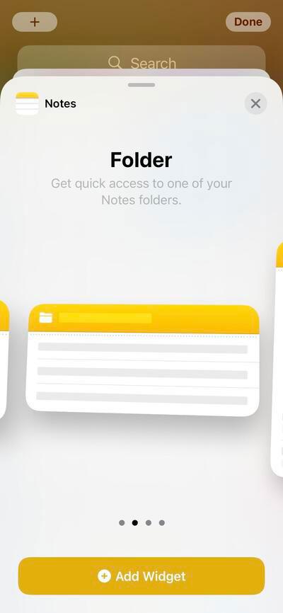 استفاده از ویجتهای اپلیکیشن Notes در ایفون