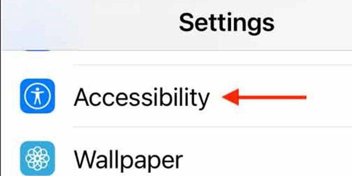 برای فعال کردن Back Tap آیفون وارد منو Accessibility شوید