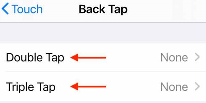 back tap در ios 14
