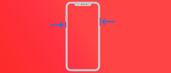 فورس ریست کردن آیفون برای رفع مشکل قفل شدن آیفون روی لوگو اپل