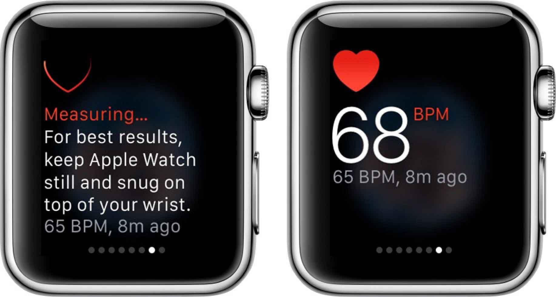 نمایش ضربان قلب در اپل واچ