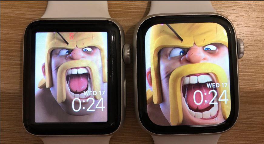 مقایسه صفحه نمایش اپل واچ ۳ با اپل واچ ۴