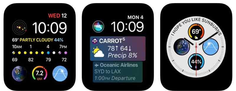 carrort weather app for apple watch