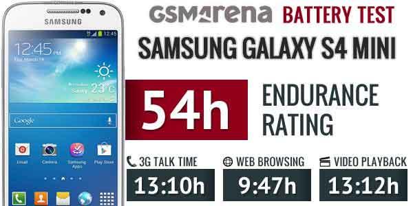 زمان پایداری کلی باتری باطری سامسونگ گلکسی اس 4 مینی Samsung Galaxy S4 Mini