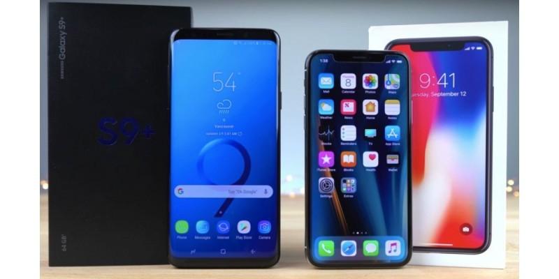 مقایسه باتری گوشی های iPhone X و Galaxy S9 Plus