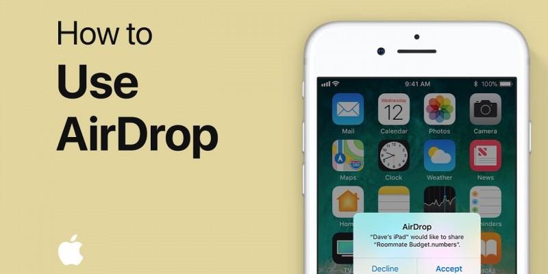 آموزش استفاده از AirDrop