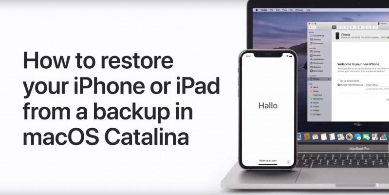 بازگرداندن اطلاعات در سیستم عامل iOS