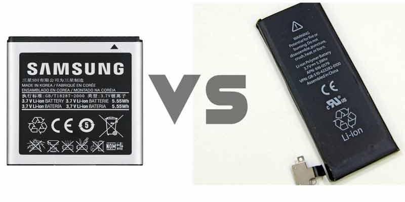 مقایسه باتری های قابل تعویض با باتری های داخلی غیرقابل تعویض